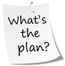 A post it note that says what's the plan?