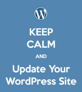 Keep calm and update your wordpress site